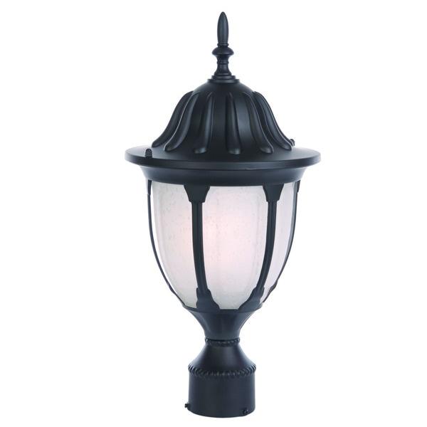 Acclaim Lighting Somerset 1 Light Matte Black Outdoor Post: Shop Acclaim Lighting Suffolk Collection Post-Mount 1