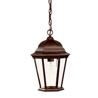 Acclaim Lighting Richmond Collection Hanging Lantern 1-Light Outdoor Burled Walnut Light Fixture