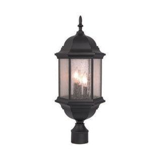 Acclaim Lighting Madison Collection Post-Mount 3-Light Outdoor Matte Black Light Fixture
