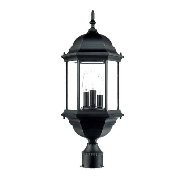 Acclaim Lighting Somerset 1 Light Matte Black Outdoor Post: Shop Acclaim Lighting Madison Collection Post-Mount 3