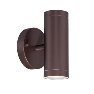 Acclaim Lighting LED Wall Sconces Collection Wall-Mount 2-Light Outdoor Architectural Bronze Light Fixture