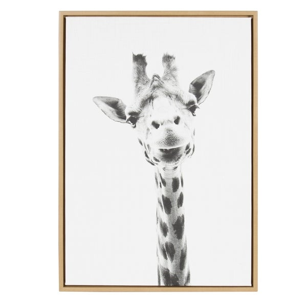 The Curated Nomad Giraffe Framed Canvas Wall Art by Simon Te Tai
