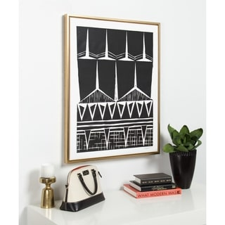 Link to Sylvie Modern Tribal Print Framed Canvas Wall Art by Statement Goods Similar Items in Sinks