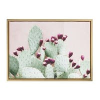 Sylvie Cactus 25 Gold Framed Canvas Wall Art by Amy Peterson, 18x24 - N/A