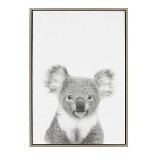 Sylvie Koala II Framed Canvas Wall Art by Simon Te Tai, Gray 23x33