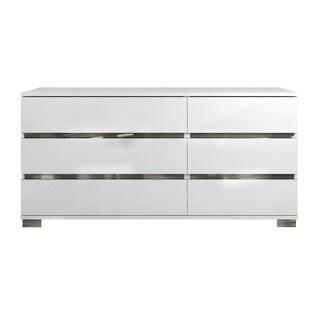 SPARK High Gloss White Lacquer Dresser by Talenti Casa