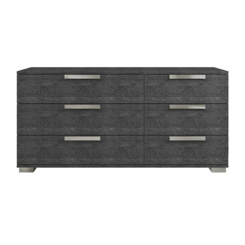 HAMPTON Gray Birch Lacquer Dresser by Talenti Casa
