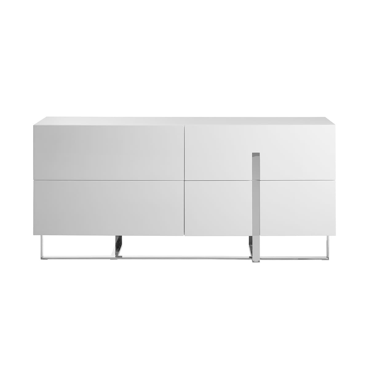 Collins Dresser In High Gloss White