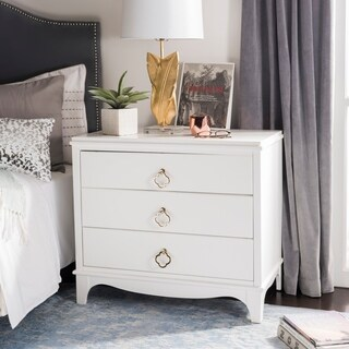 Safavieh Hannon 3-Drawer Contemporary White Nightstand