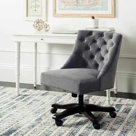 """Safavieh Soho Tufted Velvet Swivel Desk Chair - 25.2"""" x 27.2"""" x 33.9"""""""