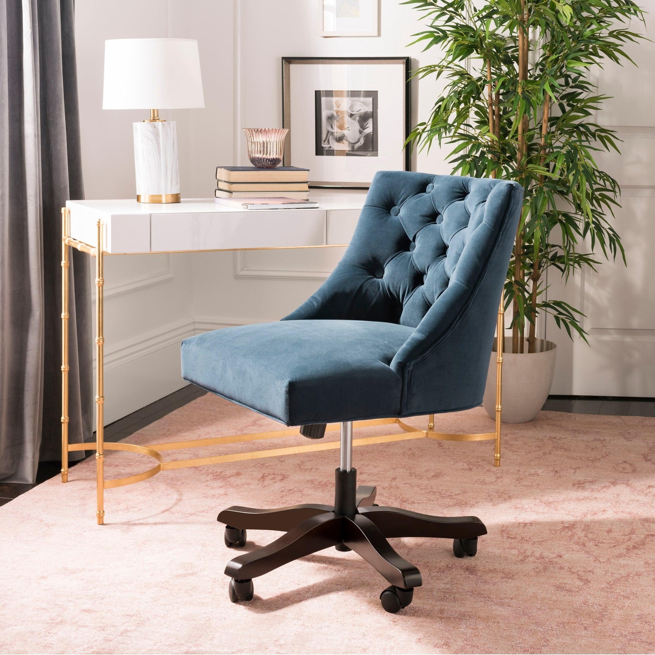 Astonishing Safavieh Soho Tufted Velvet Swivel Desk Chair 25 2 X 27 2 X 33 9 Ocoug Best Dining Table And Chair Ideas Images Ocougorg