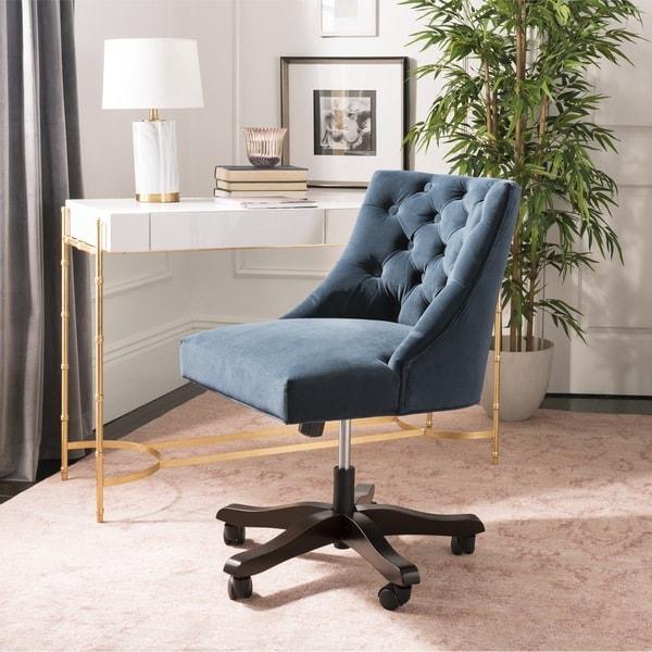 Shop Safavieh Soho Tufted Velvet Swivel Desk Chair On