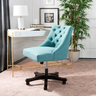 Safavieh Soho Tufted Linen Swivel Desk Chair