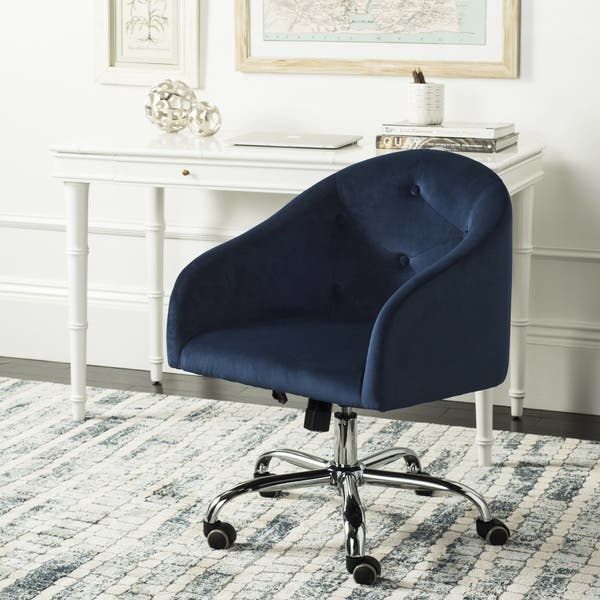 Fantastic Shop Safavieh Amy Tufted Velvet Chrome Leg Swivel Office Ocoug Best Dining Table And Chair Ideas Images Ocougorg