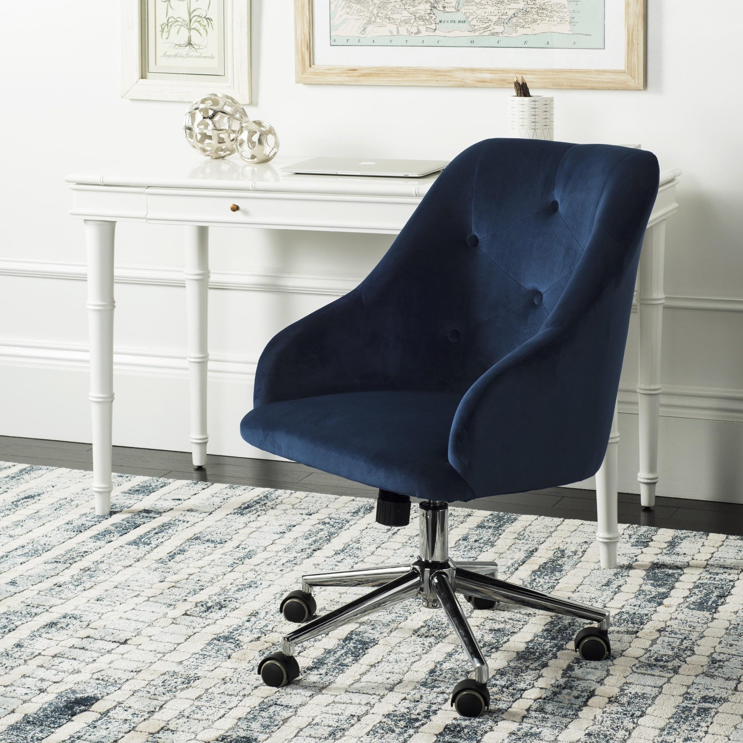 Tremendous Safavieh Evelynn Tufted Velvet Chrome Leg Swivel Office Chair Forskolin Free Trial Chair Design Images Forskolin Free Trialorg