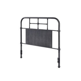 Rize Metal Panel and Spindle Headboard (Black - Full)