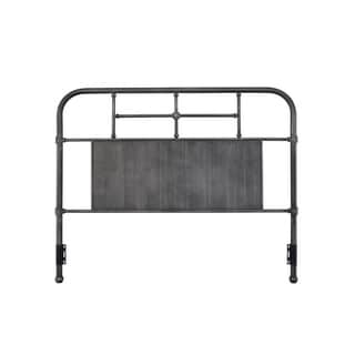 Rize Metal Panel and Spindle Headboard (Black - Queen)