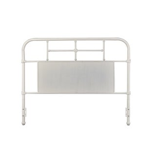 Rize Metal Panel and Spindle Headboard (Antique White - Queen)