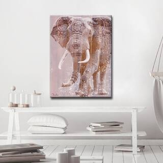 The Curated Nomad 'Wild Zen II' Inspirational Canvas ArtPink