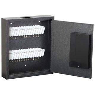 """Hercules KE1002-30 Electronic Lock Key Cabinet, Holds 30 Keys, 9.87"""" x 2.5"""" x 12"""", Steel, Silver Vein"""
