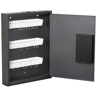 """Hercules KE1302-60 Electronic Lock Key Cabinet, Holds 60 Keys, 13"""" x 2.5"""" x 17"""", Steel, Silver Vein"""
