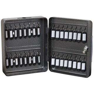 "Hercules KK0803-32 Key Locking Key Cabinet, Holds 32 Keys, 8"" x 3"" x 9.87"", Steel, Silver Vein"