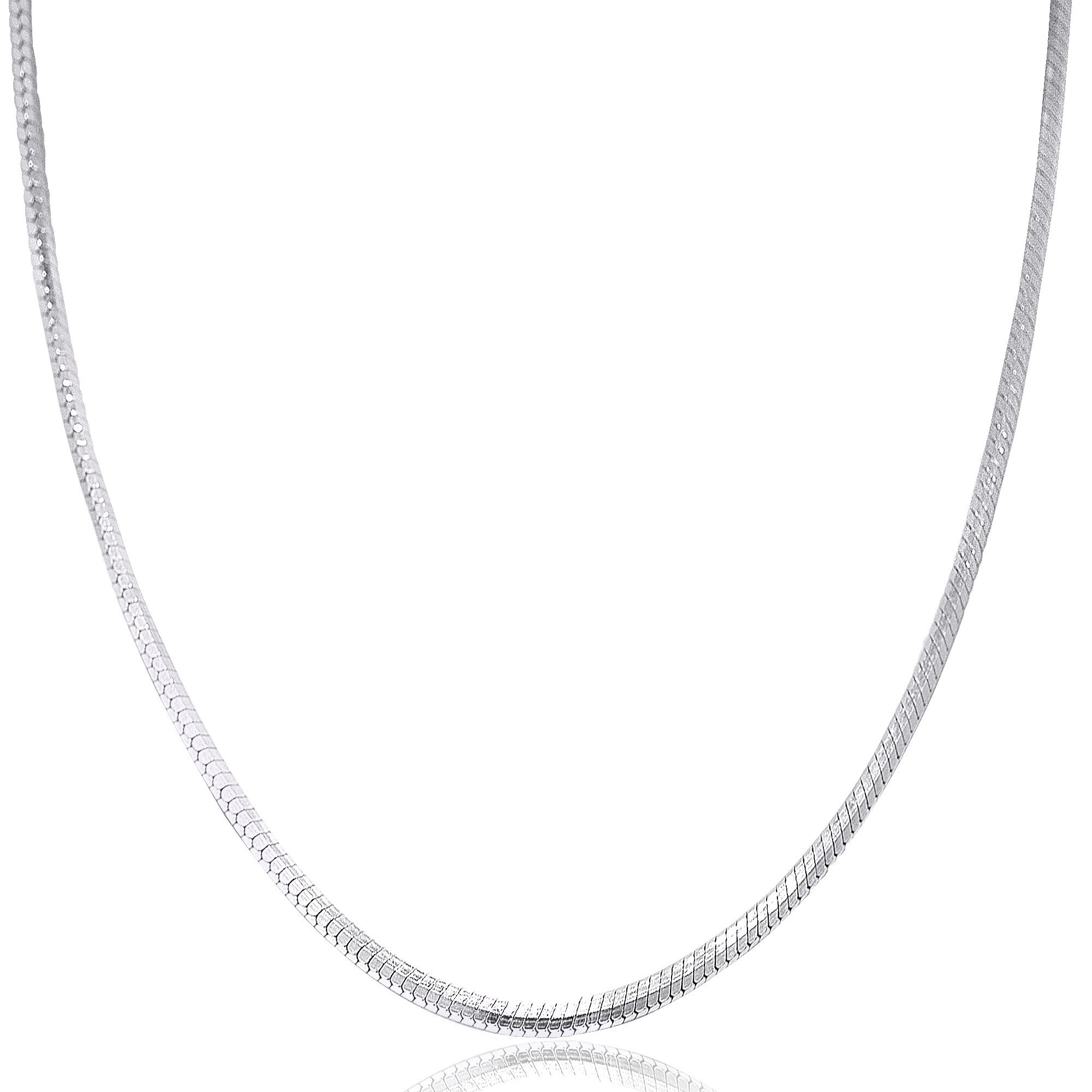925 Italian Made Solid 925 Sterling Silver Snake Chain 40 cms