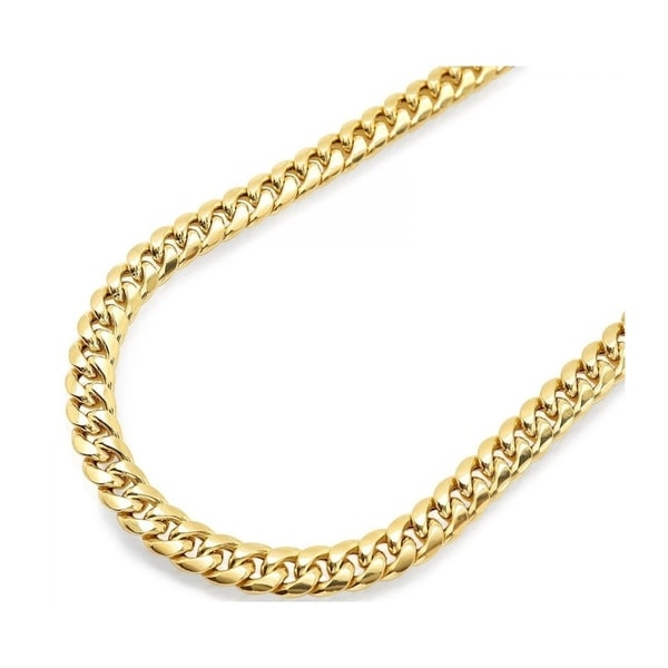 c2da322d2 Pori Jewelers 18k gold plated 925 Sterling Silver High Polished 17.9 MM  Miami Cuban 500 Chain