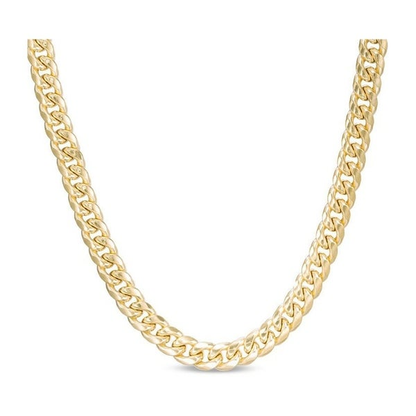 d9e72eb6e Pori Jewelers 18k gold plated 925 Sterling Silver High Polished 9.8 MM  Miami Cuban 300 Chain