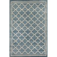 Trellis Contemporary Modern Indoor Area Rug - 9' x 12'
