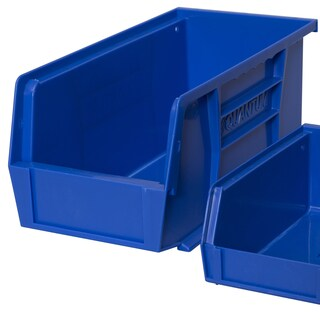 Large Plastic Staking and Hanging Parts Bin, Blue