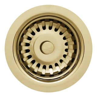 """Whitehaus Collection 3 1/2"""" basket strainer for deep fireclay applications"""