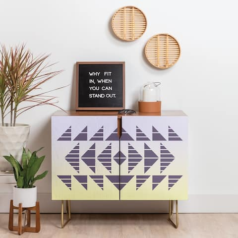 Deny Designs Tribal Sunset Credenza (Walnut or Birch, 2 Leg Options)
