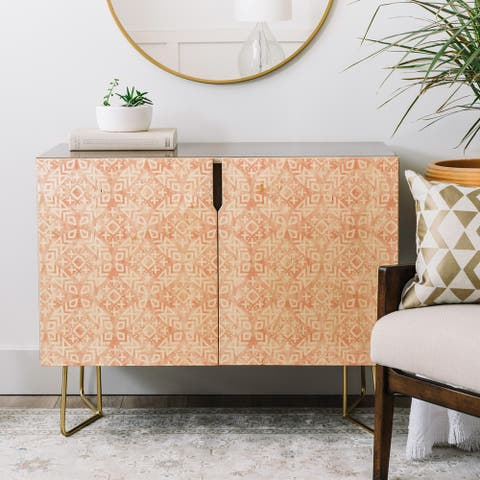 Deny Designs Modern Moroccan Credenza (Birch or Walnut, 2 leg options)