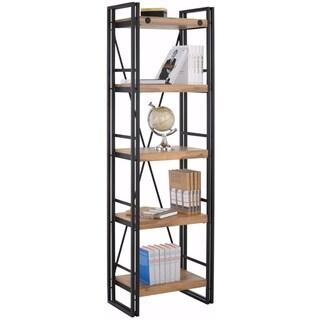 Katashi Bookcase Narrow combined Acacia Wood and Metal