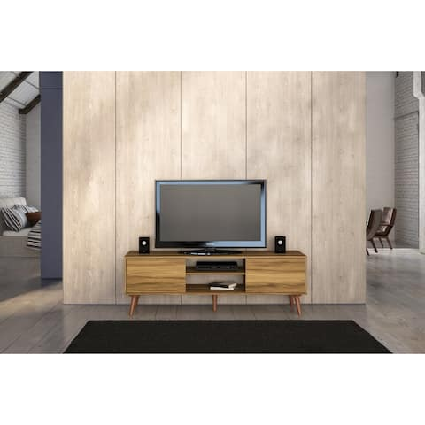 Boahaus Brown Wood 65-inch TV Stand