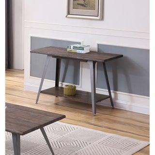 Best Master Furniture Antique Brown Mid Century Sofa Table