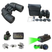 Cassini C-P8IL 8x40mm Wide-Angle Water and Fog Proof Binocular with Green Laser Illuminator