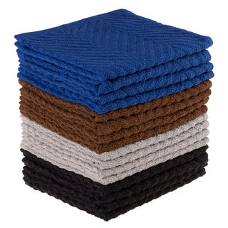 Dish Cloths Pack Set of 16 Kitchen Wash Towels, Cleaning/Drying by Windsor Home
