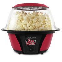 West Bend 82707 Stir Crazy Popcorn Machine, Red