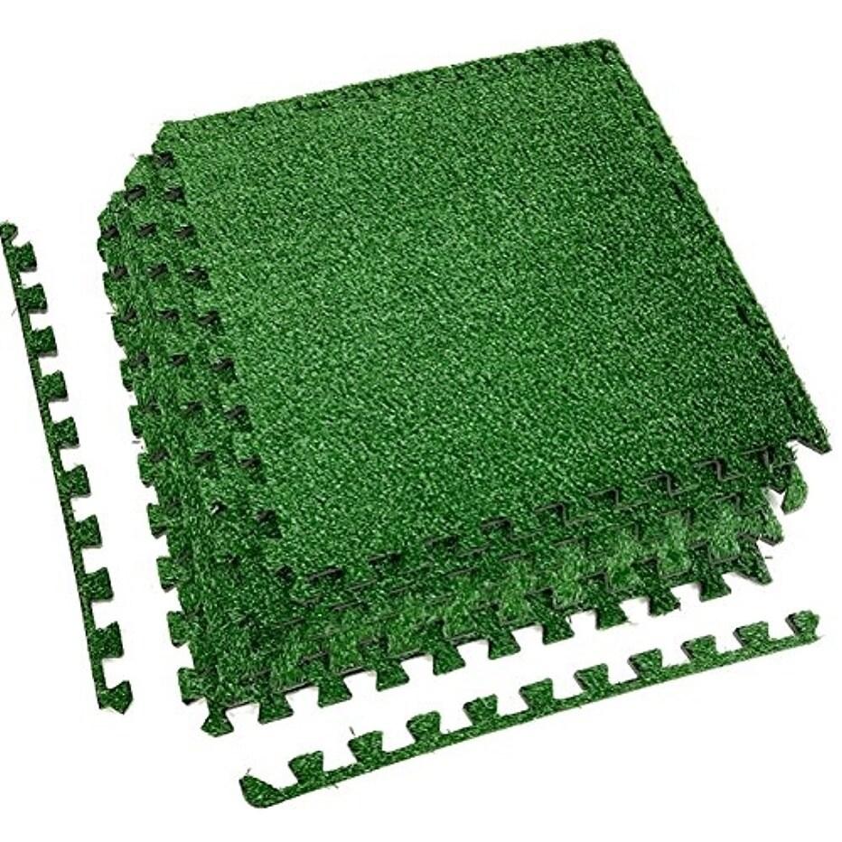 International Interlocking Floor Mat - Grass (4 pcs), Green