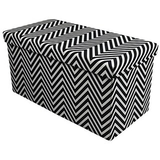 Storage Bench Chest, Small - Chevron