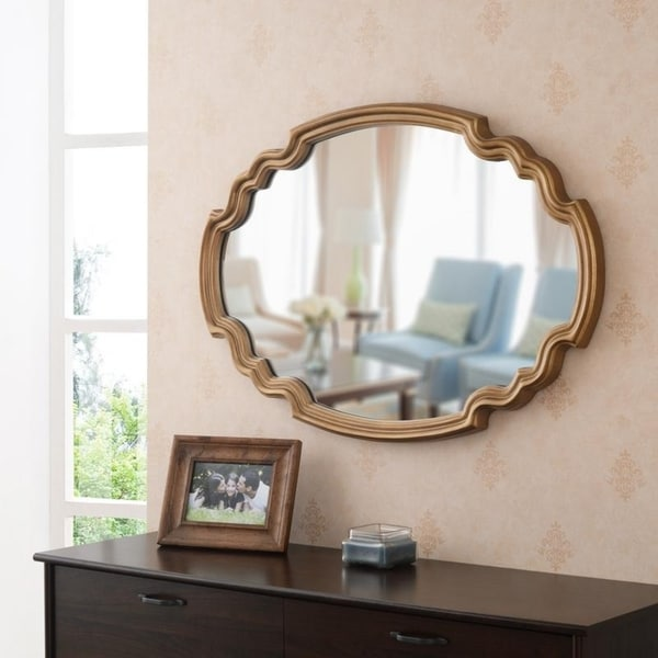 """Theater Gold 24.5"""" Wall Mirror - 35.5""""x 24.5"""". Opens flyout."""