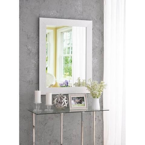 "Sway Glossy White 38.38"" Wall Mirror"