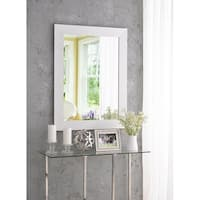 "Sway Glossy White 38.38"" Wall Mirror"