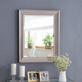 "Design Craft Isabella Chrome 30"" Wall Mirror"