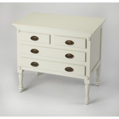 Handmade Easterbrook White Drawer Chest (India)
