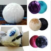 Aurora Home Faux Fur 65cm Yoga Ball Chair Free Shipping