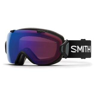 Smith Optics Womens I/OS Snowmobile Goggles Black / ChromaPop Photochromic Rose Flash - IS7CPZBK18