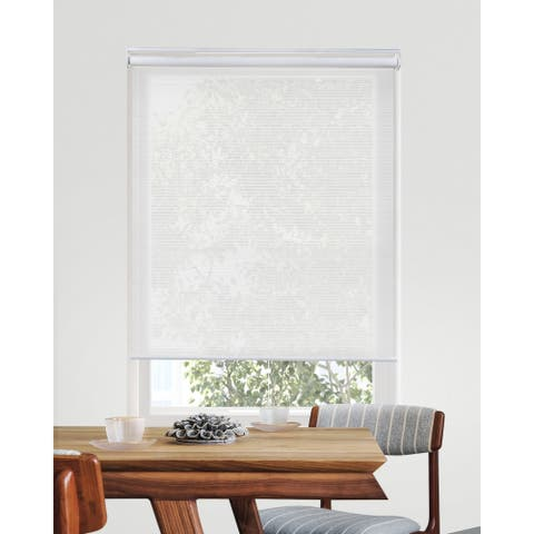 CHICOLOGY Solar Cordless Roller Shades Snap-N'-Glide-View-tiful White